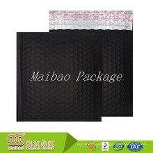 Multipurpose Self Adhesive Metallic Aluminum Foil Film Custom Matte Black Bubble Mailers With Logo