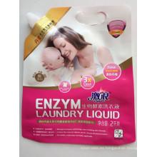 Bolsa de salida para detergente para ropa con asa