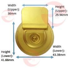 Bolso de mujer de aleación de zinc de metal redondo círculo caso de bloqueo