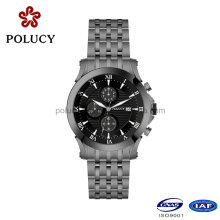 316L Stainless Steel Men Quartz Wrist Watch with Chronograph