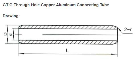 Pass Through Copper Connecting Tube