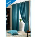 Home Decoration Blackout Lake Green Polyester Window Curtain