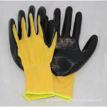 13G Yellow U3 Polyester Glove with Nitrile Coated