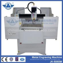 máquina de gravura do tag do metal de alta precisão JK - 6060M com motor de passo