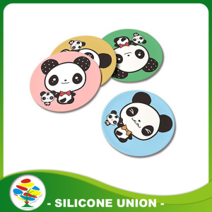 Hot Sale aangepaste ronde Cartoon siliconen Mat