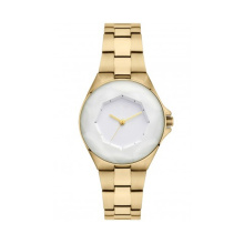 Diamond Design Watch Slim Silver Watch for Lady