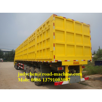 80ton 3 alxes side dump semi-remorque