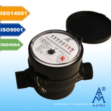 Compteur d'eau Type sec de milieu homologuée au Jet unique