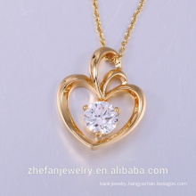 designer pendant lighting heart shape Crystal Pendants Necklaces Jewelry collier femme Hot Fashion Gold Plated Chain Necklace Pe