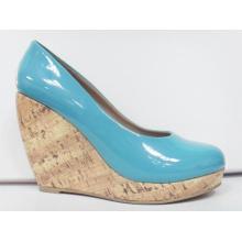 2016 zapatos de vestir de la cuña del tacón alto de la manera (HCY03-105)