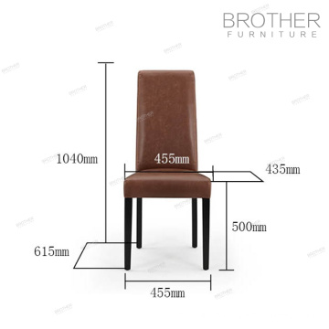 Best price Antique elegant high back leather dining chairs