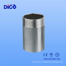 Сделано в Китае Нержавеющая сталь 304 резьбовой ниппель