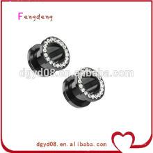 Acier inoxydable en forme de bouchon d'oreille tunnel corps piercing bijoux