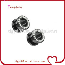 Stainless steel plug tunnel body piercing jewelry