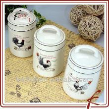 Preiswertes Keramik-Porzellan-Süßigkeit-Creme hermetisch versiegeltes Glas