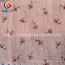 Cotton Printed Jacquard Fabric for Woman Garment Textile (GLLML084)