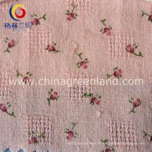 Tecido de algodão impresso jacquard para a mulher têxtil vestuário (GLLML084)