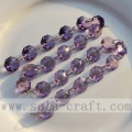 Faceted Purple Octagon Beaded Wedding Garland Strings