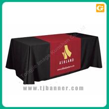 Poliéster exibição promoção mesa toalha de mesa de tecido