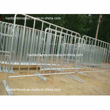 Hot Dipped Galvanized Crowd Control Barriers with Fixed Feet