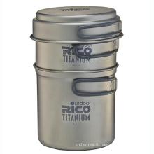 Высокое качество титана кемпинг горшок набор