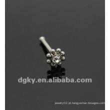 Inox flor nariz nariz do osso piercing jóias