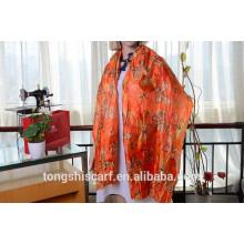 Neuester modischer Crinkled Butterfly Printed Long Schal und meistverkaufter imitierter Paj Schal Schal