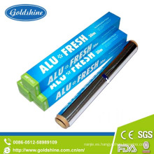 Uso de alimentos y tratamiento impreso Lámina de aluminio para el hogar