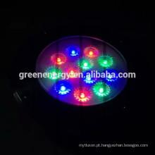 12v ac / dc controle remoto RGB 7W levou inground lâmpada