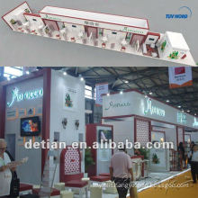 Detian Event booth/exhibition booth design made of aluminum extrusion and tension fabric with printing