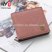 Novo estilo cor pura dobrável quadrado carteira curta