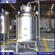 Microbrew stainless steel storage tank, brite beer tank