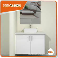 High quality wood veneer bathroom vanity cabinet set