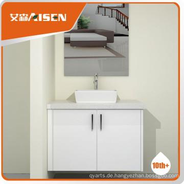 Hochwertiges Holzfurnier Badezimmer Eitelkeit Schrank Set