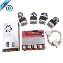 Kit de motor paso a paso CNC NEMA23 Tablero de conductor paralelo interfaz TB6560 4 ejes y fuente de alimentación 24v