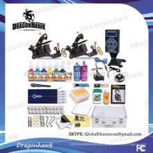 Venta al por mayor kits de tatuaje profesional kits de tatuaje máquina 2 máquinas de tatuaje