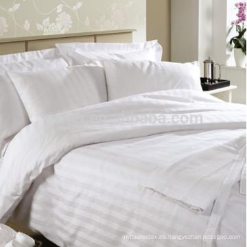 hotel 100% algodón Sateen Juego de cama de percal a rayas