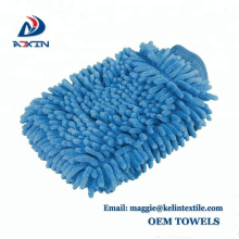 Mitaines de lavage de voiture imperméables à l'eau - Paquet de 2 gants de détail d'automobile de grande taille Microfiber