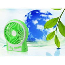 Mini ventilateur portatif USB de recharge avec 3 vitesses de vent-vert