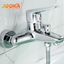 Brass single lever 3 way wall mounted shower hot cold mixer faucets