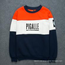 Patch Pullover Kontrast Farbe Buchstaben Druck Sweatshirt