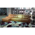 Genuine Leather Chaise Leather Sofa Electric Recliner Sofa (784)