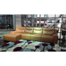 Sofá eléctrico del reclinación del sofá del cuero de la calesa del cuero genuino (784)