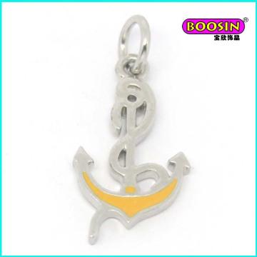 Zinc Alloy Cheap Enamel Silver Anchor Jewelry Pendant Wholesale