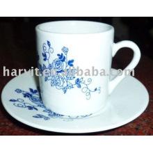 100CC Plain porcelana blanca barato granel taza y platillo