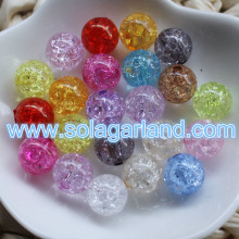 8-20MM Acryic Crystal Crackle Style Chunky Beads Loose Spacer Beads Charms