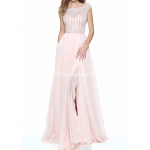 Formal Sweetheart Illusion Neckline vestido de noite
