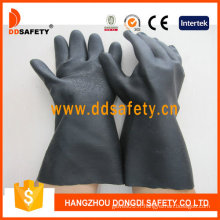Gants néoprène de l'industrie noire avec manchette longue (DHL808)