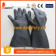 Luvas de neoprene preto indústria com manguito longo (dhl808)