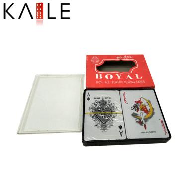 Personalizado impreso plástico jugando a la tarjeta de póquer
